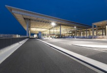 Brandenburg Airport Berlin - Main Approach to Terminal