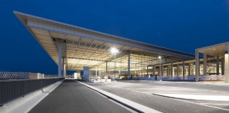 Brandenburg Airport Berlin - Main Approach to Terminal