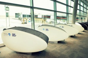 GoSleep Sleep Pods in Abu Dhabi International Airport.